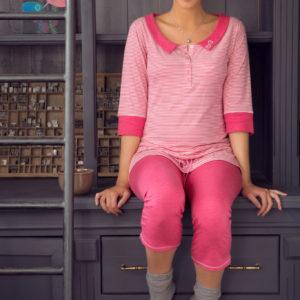 Shirt 3/4 mouw Joy roze Cache Coeur