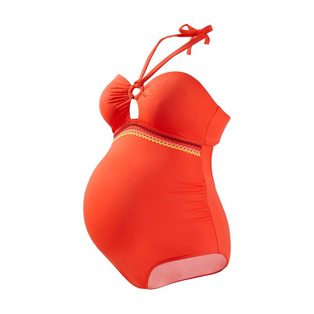 Oranje zwangerschapsbadpak Africa Cache Coeur
