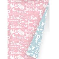 Cadeaupapier Inpakpapier baby Roze Blauw